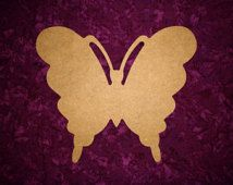 """Butterfly Shape Wood cut out Unfinished Wooden Paintable MDF 12"""" Tall"""