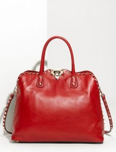 "50 Dream Handbags: Valentino ""Rock Stud"" Leather Handbag, $1,995 ..."