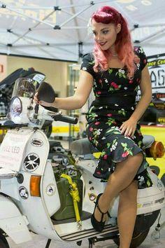 Piaggio Vespa, Lambretta Scooter, Scooter Motorcycle, Vespa Scooters, Vespa Girl, Scooter Girl, Lady Biker, Biker Girl, Italian Scooter