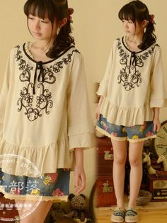 Like a gypsy Mori Girl blouse from www.asianicandy.com