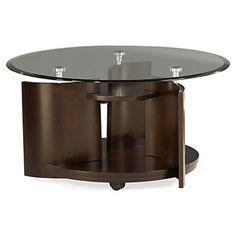 coronado round cocktail table - art van furniture | coffee table