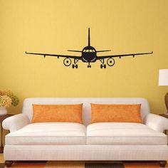 3D Airplane Wall Stickers Muraux Wall Decor Airplane Wall Art Decal Decoration Vinyl Stickers Removable Airplane Wallpaper