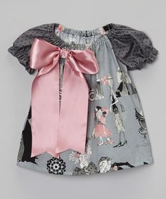 This Gray & Pink Ghastly Dress - Infant & Toddler by Enchanted Everyday is perfect! #zulilyfinds