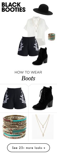 """black boots ❤"" by mrs-way-iero on Polyvore featuring Chicwish, Ollio, rag & bone, LOFT and Amrita Singh"