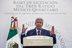 MÉXICO, D.F. (apro).- La suspensión de la licitación del tren rápido México-Querétaro fue por motivos políticos y Juan Armando Hinojosa Cantú, contratista predilecto de Enrique Peña Nieto, no parti...
