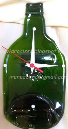 devidroaisso: relógios de garrafas