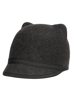 Felt Cat Hat (Dark Grey) by Witchery