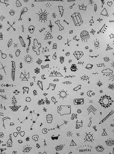 Kritzelei Tattoo, Doodle Tattoo, Tattoo Drawings, Tattoo Thigh, Tattoo Moon, Tattoo Hand, Tattoo Fonts, Tattoo Sketches, Tattoo Quotes