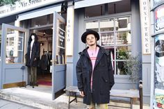 [ALEXANDROS]庄村聡康2018/3/25 本日は聡泰さん([ALEXANDROS])がご来店!_ 新作のミリタリーコートにオリジナルのハットがとてもお似合いです! いつもありがとうございます。