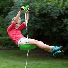 Great for kids, Slackers Falcon Series Zipline Set delivers soaring adventures to your backyard.