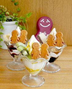 Mr. Friendly Parfaits with Biscuits :)