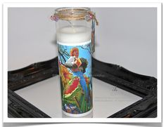 Bayou Man and Alligator Candle  by theRDBcollection.com, $24 | Enjoy this colorful & interesting photograph by Renee Dent Blankenship on a tall hand-poured candle | Other candles are in the collection so take a look.