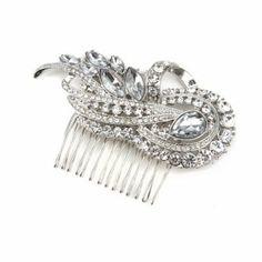 Crystal Swirl Knot Hair Comb