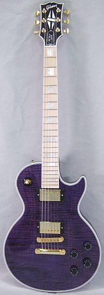Gibson CUSTOM SHOP Limited Les Paul Custom Figured Top w/Maple Fingerboard (Trans Purple)