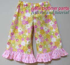 Modest Maven: Ruffle Bloomer Pants Pattern and Tutorial