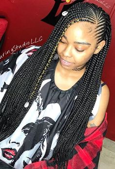 85 Box Braids Hairstyles for Black Women - Hairstyles Trends Box Braids Hairstyles, Lemonade Braids Hairstyles, Black Girl Braided Hairstyles, Black Girl Braids, Braids For Black Hair, Girls Braids, African Hairstyles, Black Women Hairstyles, Girl Hairstyles