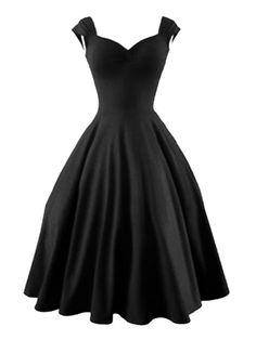 Black Sweetheart Bubble Sleeveless Dress