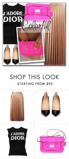 """""""Colorful"""" by leathersatchel ❤ liked on Polyvore featuring Miss Selfridge, Christian Louboutin and Christian Dior"""