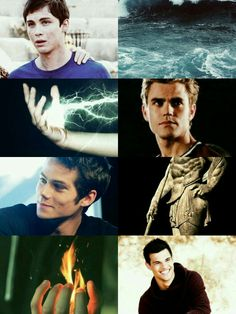 Male characters from Heroes of Olympus. Percy Jackson,Jason Grace,Frank Zhang, Leo Valdez.