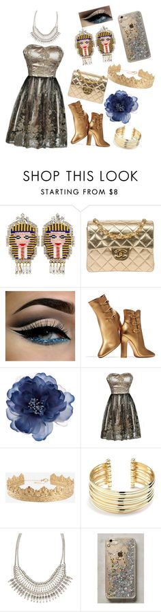 """Cool Cleo"" by innanordgren ❤ liked on Polyvore featuring Shourouk, Chanel, Gianvito Rossi, Accessorize, Belk Silverworks, ALDO and Anthropologie"