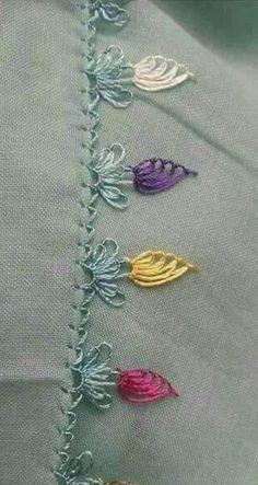 İğne oyası Flower Embroidery Designs, Hand Embroidery Stitches, Ribbon Embroidery, Embroidery Patterns, Baby Knitting Patterns, Knitting Yarn, Sewing Patterns, Needle Tatting, Needle Lace