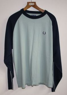 Vintage Fred Perry Mens Sport Sweatshirt Fashion Designer Casual Style Size L