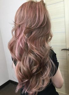 Pastel Pink Hairstyle For Long Hair