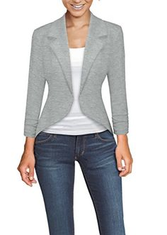 BeingStyle | Womens Casual Work High Low Blazer Jacket | #whatwomenwear #springstyle #blazers