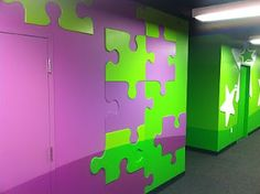 Worlds of Wow - fun puzzle pieces create a transition from one grade level to the next