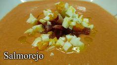 """""""SALMOREJO. Rico saludable, refrescante y bien fácil de hacer. Una receta tradicional deliciosa Gazpacho, Baked Potato, Cantaloupe, Appetizers, Potatoes, Chicken, Meat, Baking, Ethnic Recipes"""