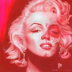 dia De Los Monroe Painting - Christian Chapman Art This would make an amazing tattoo in black and grey