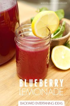 Backyard Entertaining Ideas: Blueberry Lemonade - Spaceships and Laser Beams Summer Drinks, Fun Drinks, Healthy Drinks, Alcoholic Drinks, Beverages, Summertime Drinks, Cold Drinks, Cocktails, Pineapple Lemonade