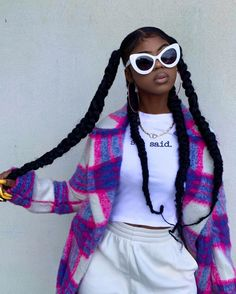 Black Girl Braided Hairstyles, Black Girl Braids, Braids For Black Hair, Girls Braids, Black Women Hairstyles, Black Girl Aesthetic, Aesthetic Hair, Aesthetic Clothes, Baddie Hairstyles