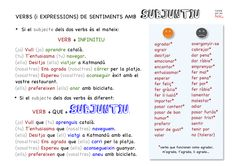 Expressió de sentiments amb Subjuntiu Spanish Practice, Learn To Speak Spanish, Study Spanish, Ap Spanish, Spanish Grammar, Grammar And Vocabulary, Spanish Language Learning, Spanish Teacher, Spanish Lessons