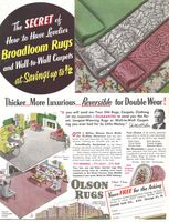 Olson Rugs 1955 Ad Picture