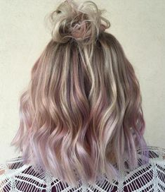 Blonde Bob with Pearly Pink Tips
