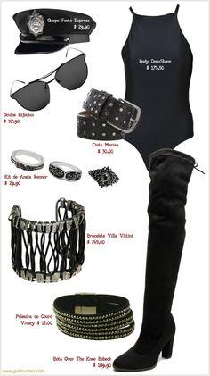 Fantasias de carnaval improvisadas usando um body preto