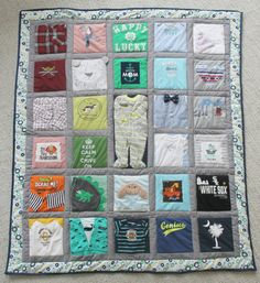ideas for patchwork clothes ideas baby blankets Baby Patchwork Quilt, Crazy Patchwork, Baby Quilts, Clothes Crafts, Sewing Clothes, Baby Memory Quilt, Memory Quilts, Quilting Projects, Sewing Projects