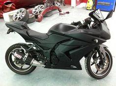 NSW Kawasaki Ninja 250r 2010 Matte Black