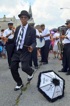 Satchmo SummerFest Second Line in New Orleans. http://www.fqfi.org/satchmosummerfest/