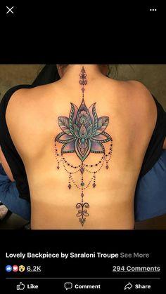 Flower Spine Tattoos, Back Tattoos, Sexy Tattoos, Body Art Tattoos, Small Tattoos, Sleeve Tattoos, Tatoos, Spine Tattoos For Women, Back Tattoo Women