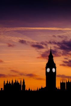 - The Way the big Ben clock tower simply illuminates through the shadow of the town- I simply love London