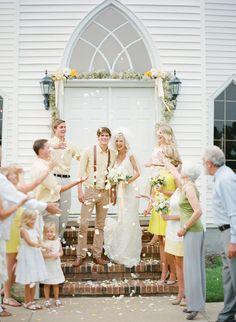 petal toss!   KT Merry #wedding
