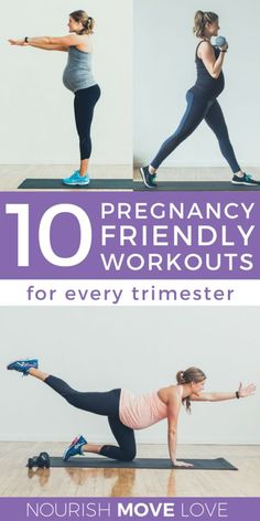 Achieve your fit pregnancy goals with these 10 Prenatal Workouts -- from low impact cardio and strength training, to baby bump yoga and barre. Fitness Workouts, Yoga Fitness, Fitness Motivation, Pregnancy Health, Pregnancy Tips, Pregnancy Exercise First Trimester, Pregnancy Nutrition, Fit Pregnancy Workouts, Second Trimester Workouts