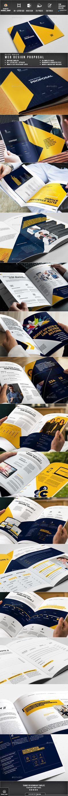 Web-design Proposal Template InDesign INDD A4 and US Letter Size ...