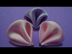 Flores de tecido - Aprender à fazer Linda Pétala de Flor de tecido. Link…