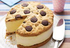 Giant chocolate chip ice cream sandwich recipe - cute idea for an alternative Birthday cake!  (www.hfwweekend.com.au)
