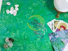 Tarot Spread Cloth Lunar Fae