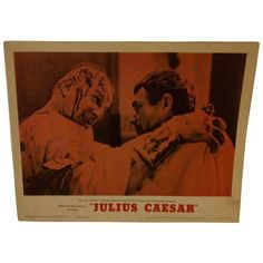 "MGM's ""Julius Caesar"" 1962 Vintage Movie Poster ($75) ❤ liked on Polyvore featuring home, home decor, wall art, vintage film posters, vintage home decor, vintage home accessories, vintage posters and vintage movie posters"