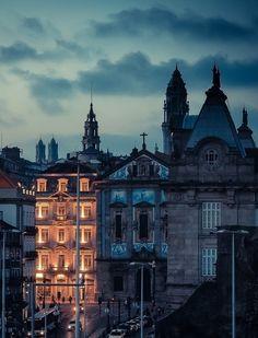 Dusk, Porto Portugal photo via vince